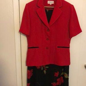 2 piece short sleeve dress